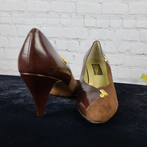 Sesto Meucci chocolate Leather and Suede p…